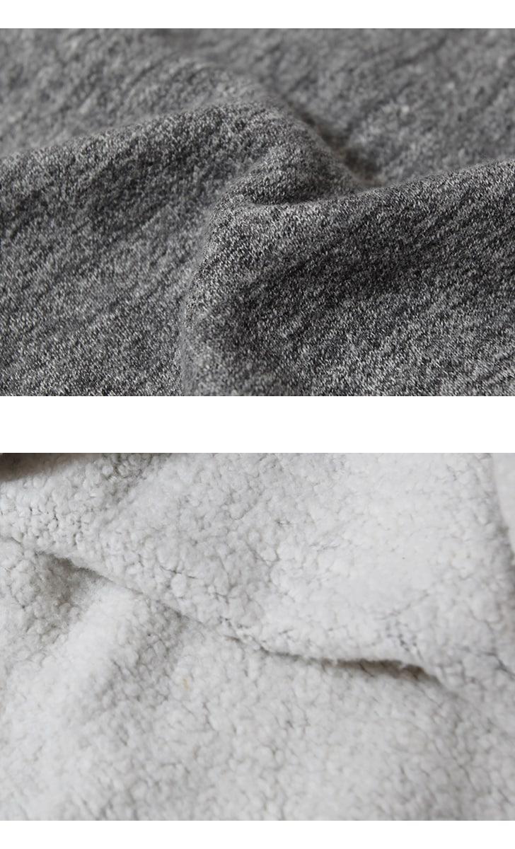 DUBBLEWORKS ダブルワークス スウェット TSURIAMI SWEAT SHIRTS 吊り編み クルーネック両Vガゼット 無地 86001