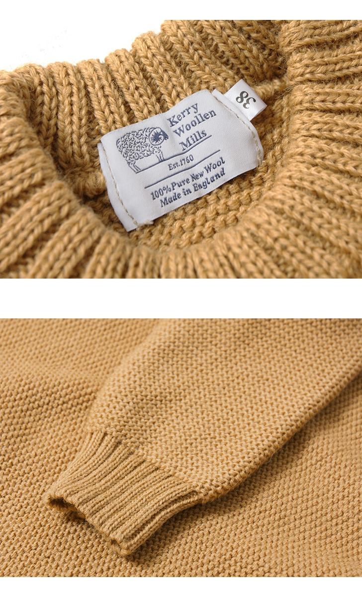 KERRY WOOLLEN MILLS ケリーウーレンミルズ パールステッチクルーネックライトセーター ニット KW018-004