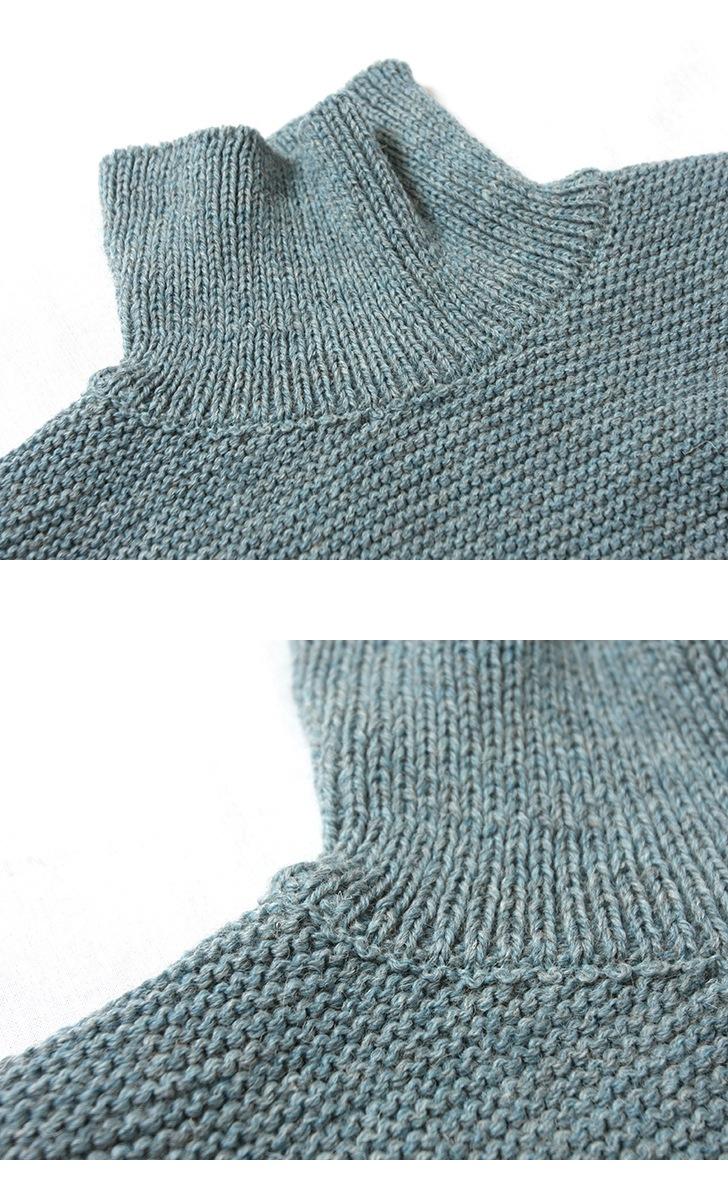 KERRY WOOLLEN MILLS ケリーウーレンミルズ パールステッチポロネックライトセーター ニット レディース KW018-015
