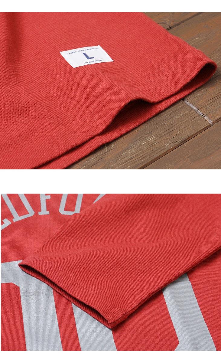 ダブルワークス DUBBLEWORKS 度詰めフットボール7分袖Tシャツ プリント 57001 [REDFORD]