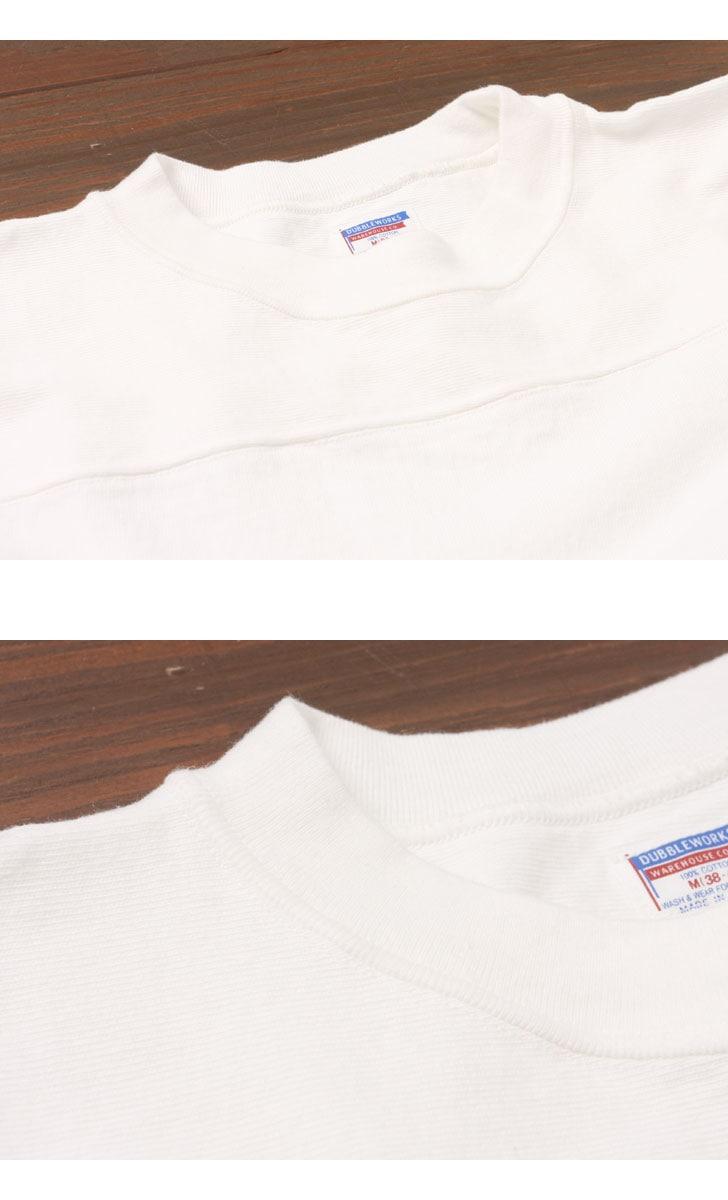 ダブルワークス DUBBLEWORKS 度詰めフットボール7分袖Tシャツ 無地 57001