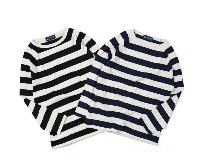 セントジェームス ウェッソン ラグラン ワイドボーダー バスクシャツ SAINTJAMES OUESSANT 16JCRAGL4×4ML レディース メンズ