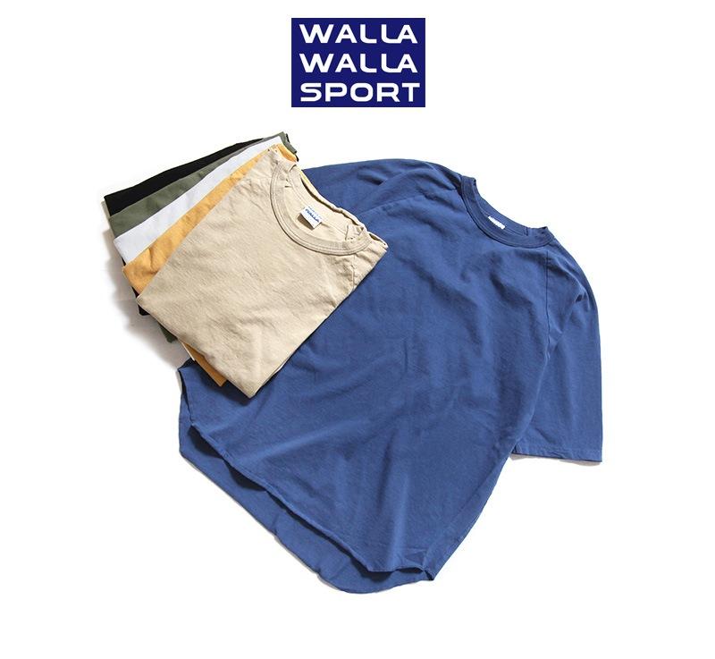 WALLA WALLA SPORT ワラワラスポーツ ハーフスリーブ ルーズフィット ベースボールTシャツ