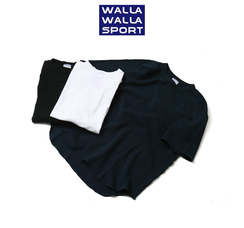 WALLA WALLA SPORT ワラワラスポーツ ハーフスリーブ ルーズフィット サーマル ベースボールTシャツ