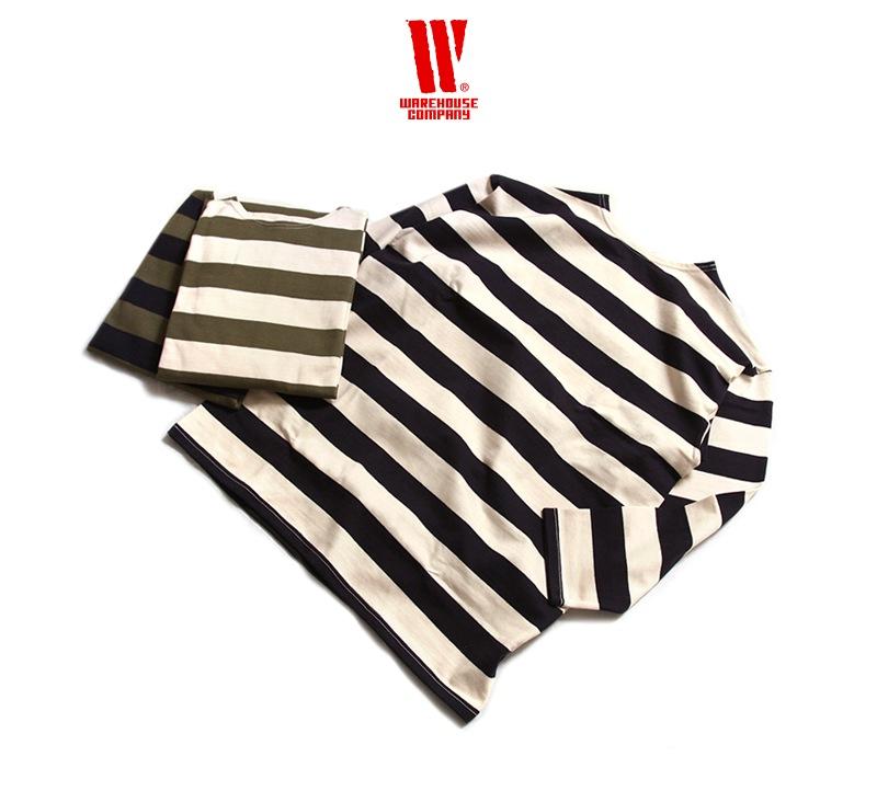 ウエアハウス 2インチボーダー 7分袖 Tシャツ WAREHOUSE