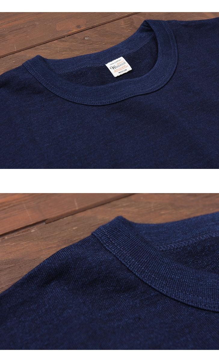 ウエアハウス WAREHOUSE インディゴ 7分袖 クルーネックTシャツ 4056