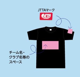 TシャツのJTTA付け位置