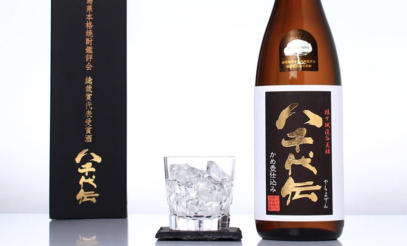 八千代伝 (黒) タンクNo.110 箱入1.8L