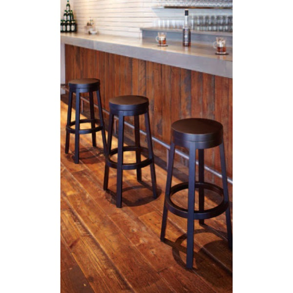 座回転式木製カウンター椅子