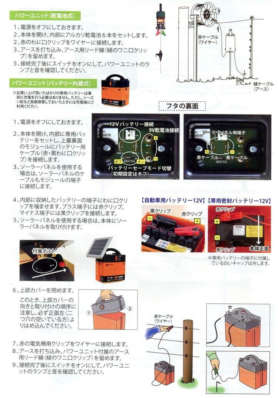 イノシシ対策 電気柵
