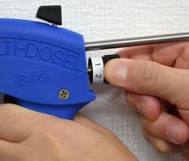 マルチドースガン 吐出量が3段階に調整できるジェル型ベイト剤専用ガン