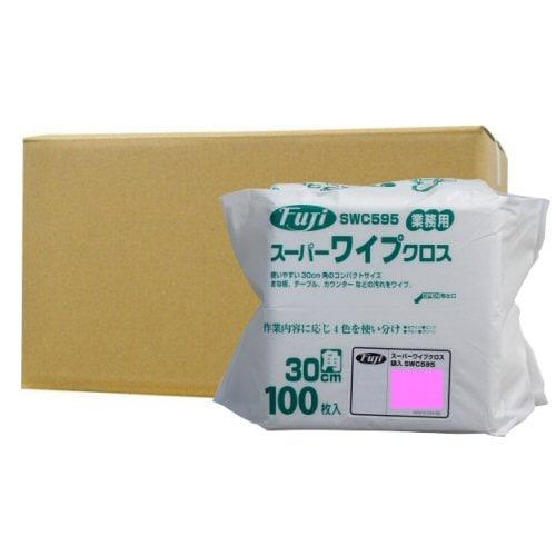 フジナップ株式会社 業務用 スーパーワイプクロス 袋入 薄手 ピンク 30cm角