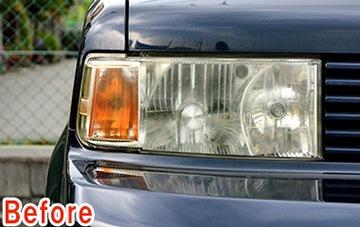 ヘッドライト復元セット 使用前