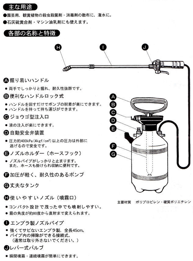 ダイヤスプレー(エンプラ製・ショートノズル(45cm)付