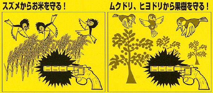 音で鳥を追い払う 音追いピストル 鳥用 【鳥獣忌避】