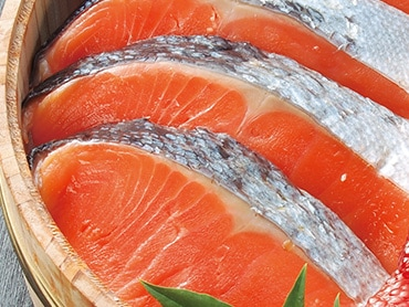 塩銀鮭干し
