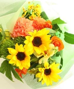 ひまわりのおまかせ花束