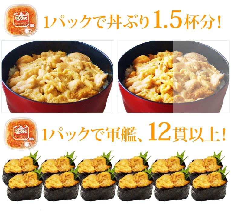 トロ〜ッとした食感、ジュっとした新鮮さ 北海道の海鮮丼と言えば?ランキング堂々一位の人気商品!塩水ばふんウニ