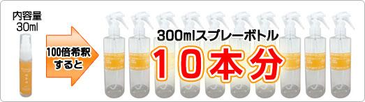 マイクロゲル YELLOW/100倍希釈で300mlスプレーボトル10本分