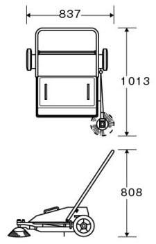 ロードスイーパーCRS-700 サイズ