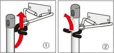 モップの掛け方/モップハンガーRC型コンパクト