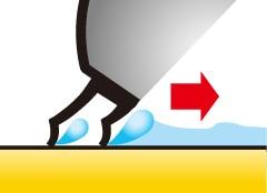 二重のゴムで水を逃がさない!/ライトウォーターブルーム