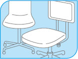 シーバイエス 無リンフォワード ビニールレザーの椅子