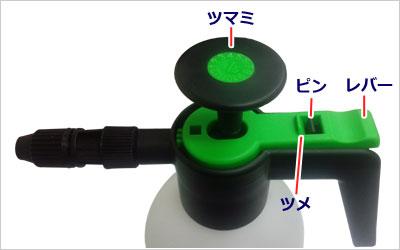 マルハチ産業 蓄圧式スプレー 1Lタイプ