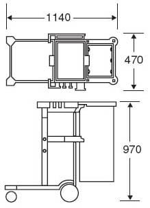 プロテックツールカートJ サイズ