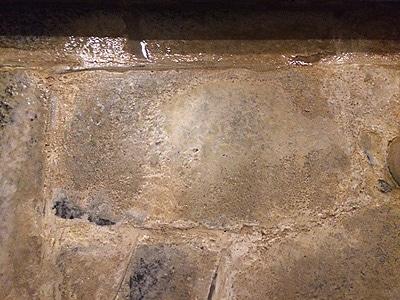 温泉のエフロ除去 洗浄前/スマート ハイパーアシッド