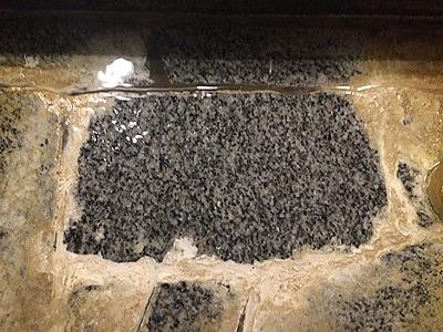 温泉のエフロ除去 洗浄後/スマート ハイパーアシッド