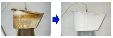 便器やトラップに付着した尿石の除去/パワーグレイズ