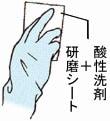 日本ケミカル ツヤ復元コート/酸性洗剤+研磨シートで見えない所まできちんと洗浄!