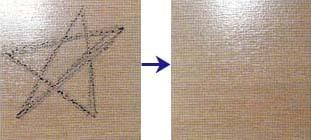 シリコーン系耐久コート剤 落書きテスト