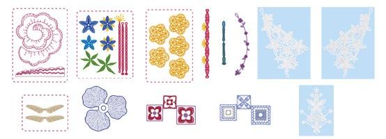 ブラザー 刺しゅうカード(立体刺しゅうのモチーフコレクション)