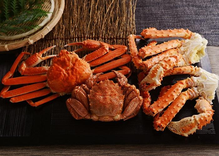 豪華三大蟹セット(タラバ蟹、ズワイ蟹、毛蟹)