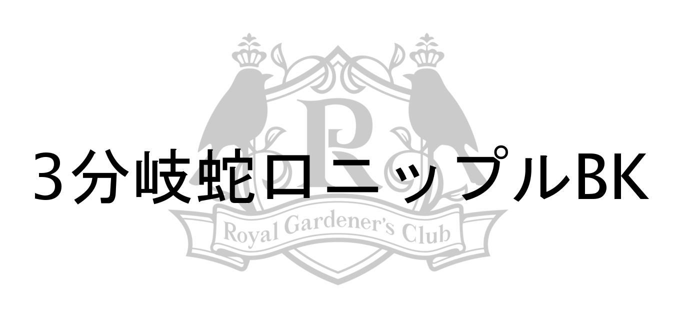 3分岐蛇口ニップルBKご紹介