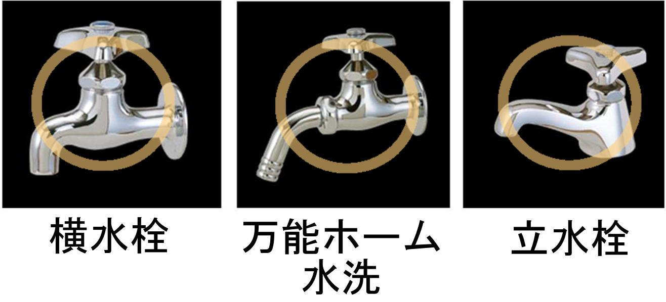3分岐蛇口ニップル(ブラック・黒)取り付けが可能な蛇口タイプ