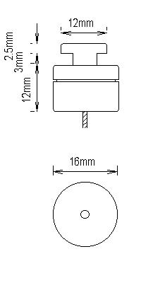 コロンランナーの形状 天井面用