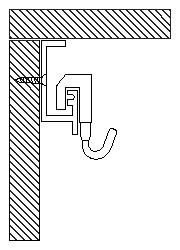 D型レールの取り付け例