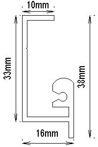 D型レールの図面