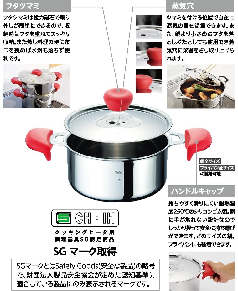 IHクッキングヒーター専用三層鍋