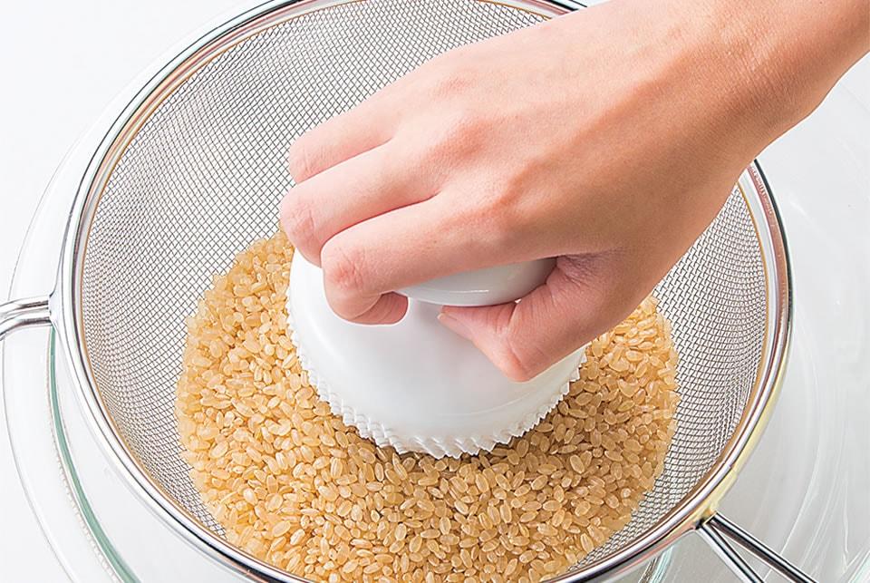 かまどご飯釜専用 玄米洗米具