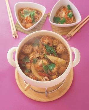 海老のトムヤンクン風鍋