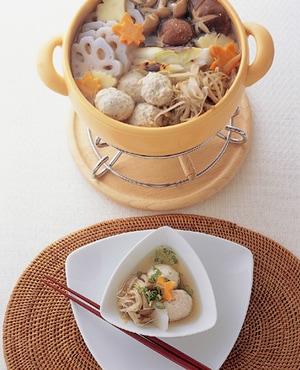 鶏つくねと根菜鍋