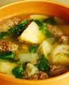 手作りソーセージと新じゃがのスープ煮