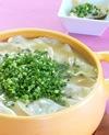 野菜たっぷり!餃子のとんこつ鍋