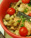 キノコと秋鮭の蒸し焼き
