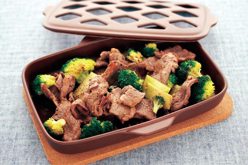 牛肉とブロッコリーのオイスターソースグリル