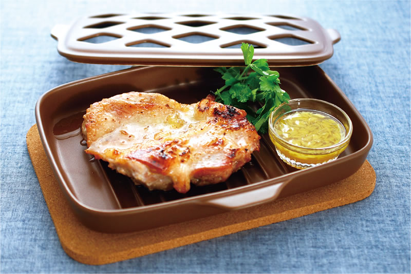 鶏もも肉のグリル 塩レモンソース